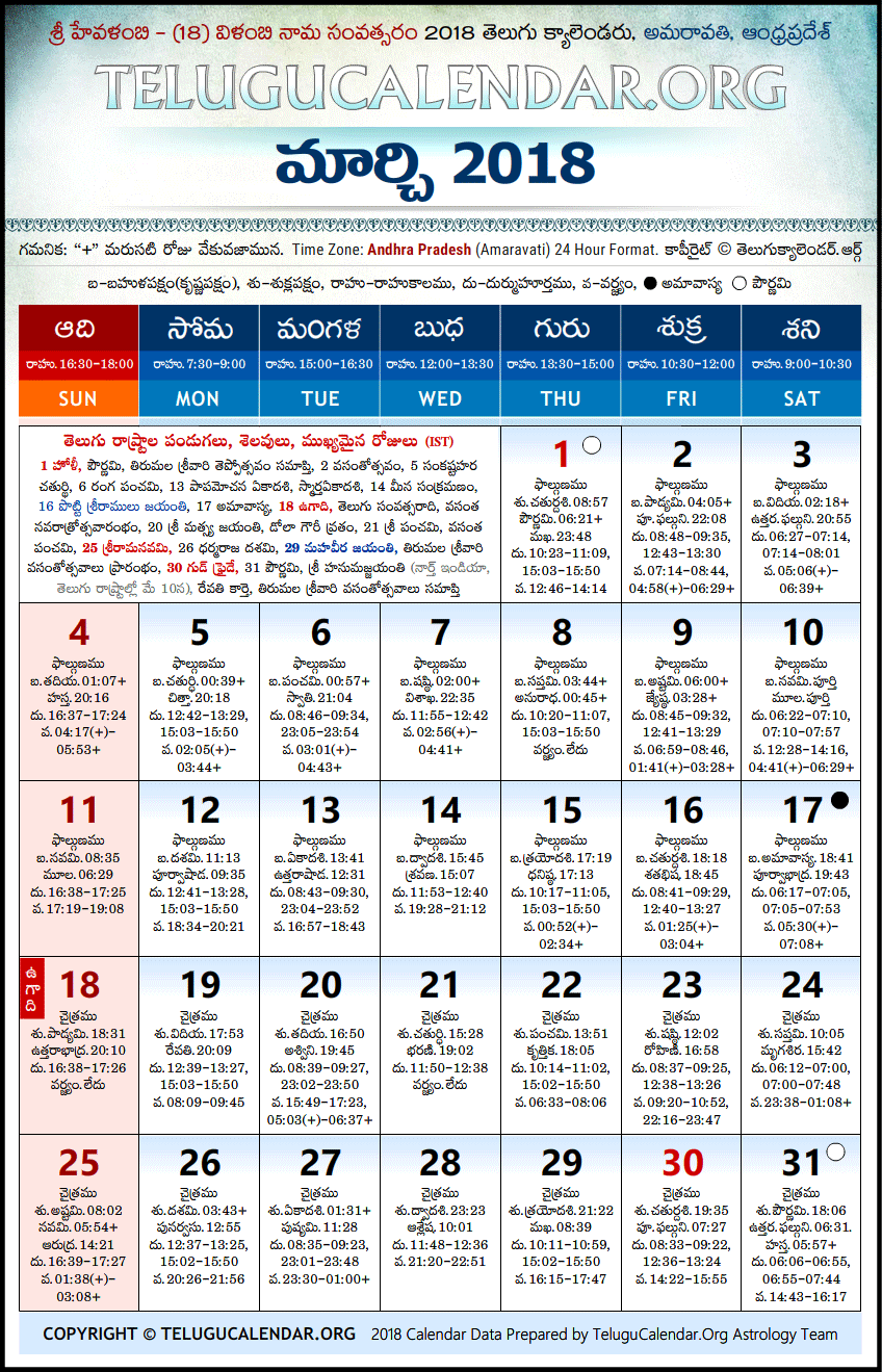 july 2018 telugu calendar Andhra Pradesh | Telugu Calendars 2018 March july 2018 telugu calendar